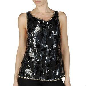 Diesel T-Elitop Sequinned Chiffon Tank Top XXS NEW